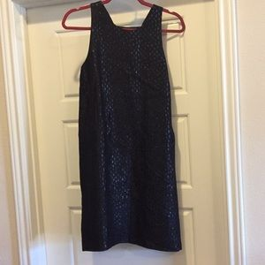 Club Monaco Shimmer Dot High Neck Dress